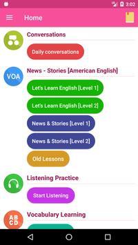 English Conversation Practice poster