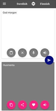 Finnish - Swedish Translator screenshot 1