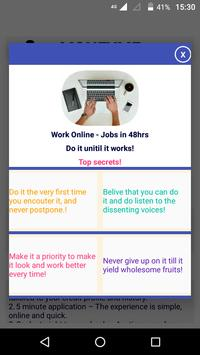 7 Schermata Work Online - Jobs in 48hrs