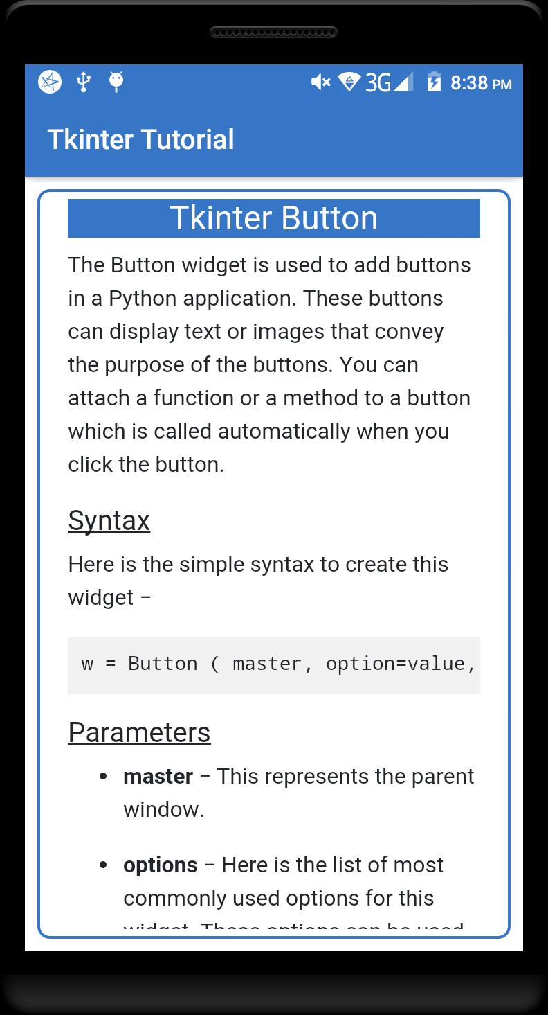 Tkinter Display Text