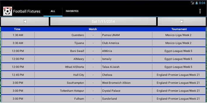 Football Fixtures screenshot 14