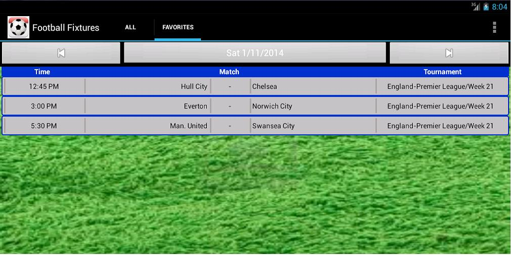 Football Fixtures for Android - APK Download
