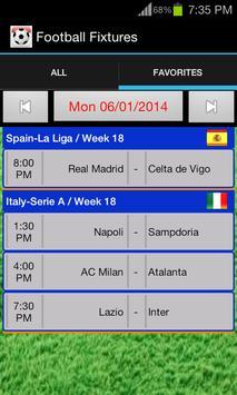 Football Fixtures screenshot 1