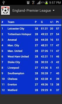 Football Fixtures screenshot 2