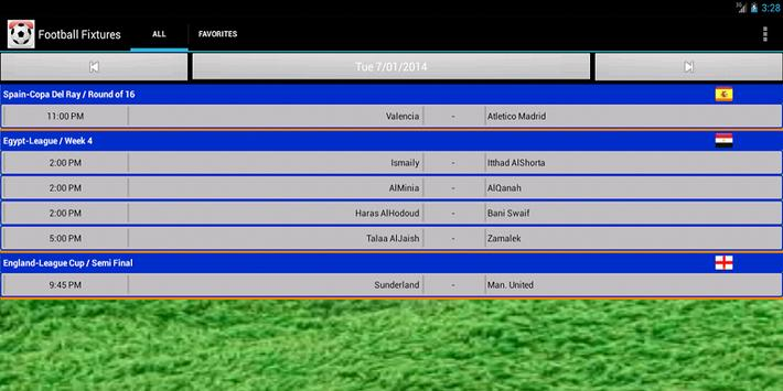Football Fixtures screenshot 7