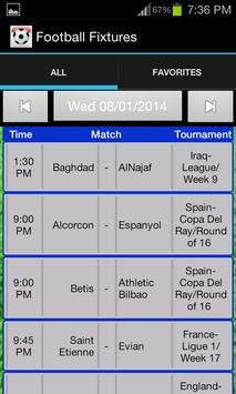 Football Fixtures screenshot 5