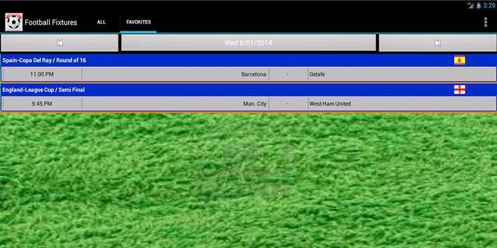 Football Fixtures screenshot 8