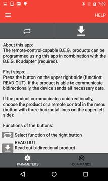 B.E.G. LUXOMAT® Remote control screenshot 1