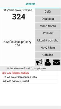 AndCntr - Přepážka vyvolávacího systému poster