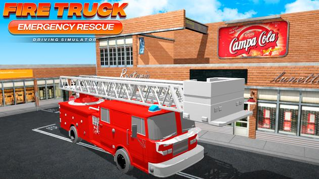 Fire Truck Emergency Rescue - Driving Simulator الملصق