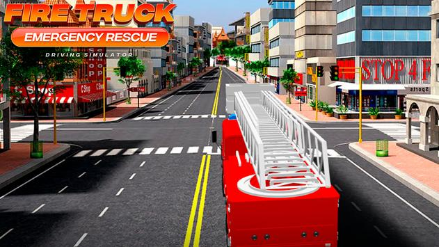 Fire Truck Emergency Rescue - Driving Simulator تصوير الشاشة 7