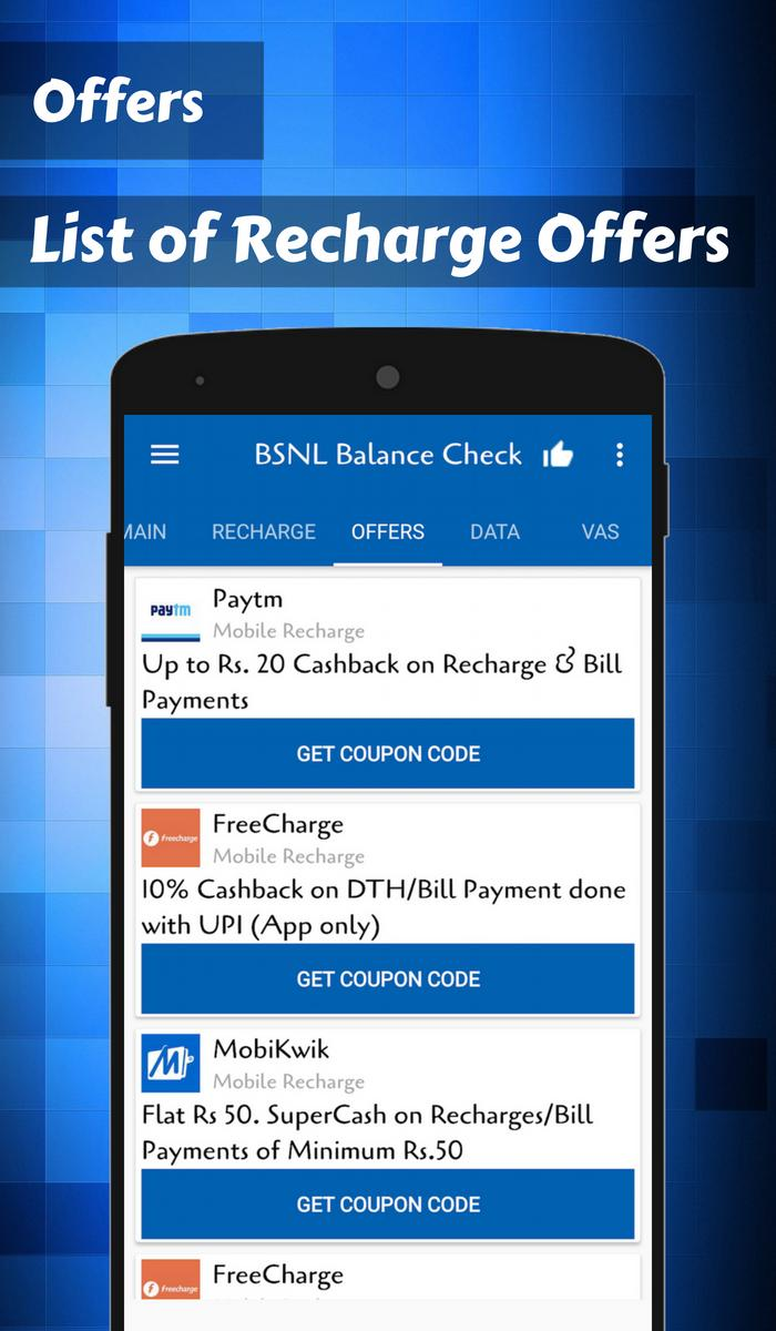 App for BSNL Recharge & BSNL balance check for Android - APK