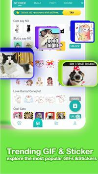 ❤️Emoji keyboard - Cute Emoticons, GIF, Stickers screenshot 3