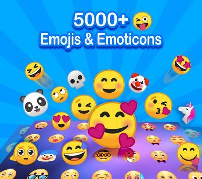 ❤️Teclado Emoji - Emoticons, GIF e Adesivos Fofos Cartaz