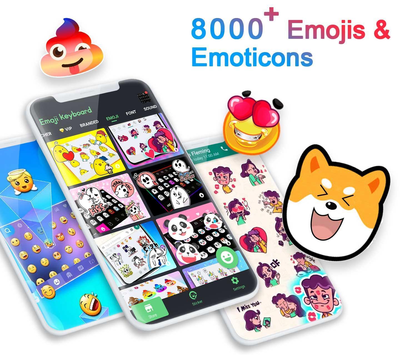 Aplikasi and ❤️Emoji keyboard - Cute Emoticons, GIF, Stickers