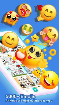 ❤️Emoji keyboard - Cute Emoticons, GIF, Stickers poster