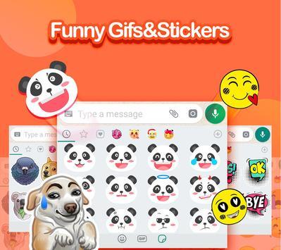 ❤️Teclado Emoji - Emoticons, GIF e Adesivos Fofos imagem de tela 2