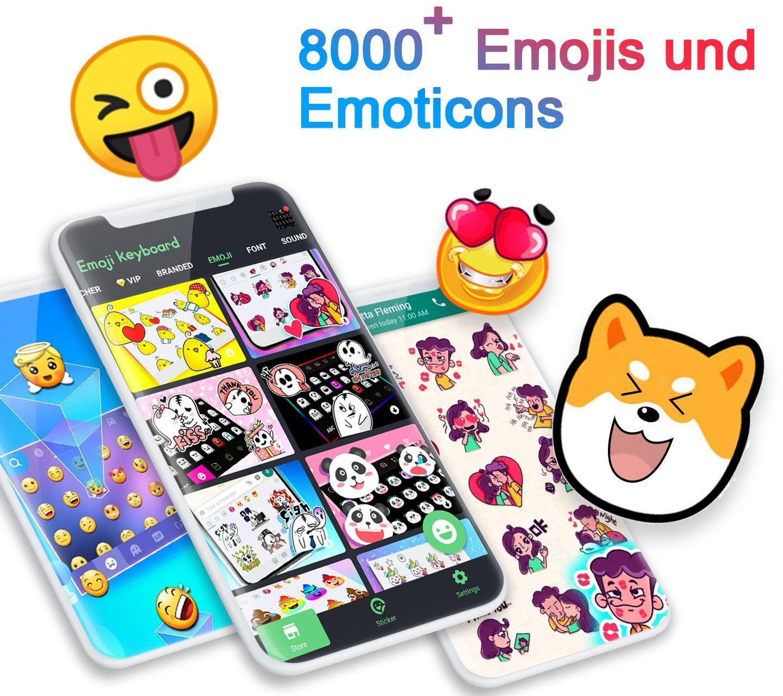 ️Emoji-Tastatur - Süße Emoticons, GIF, Sticker für Android