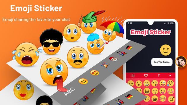 Emoji Keyboard Cute Emoticons - Theme, GIF, Emoji Ekran Görüntüsü 3