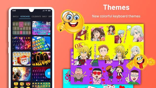 Emoji Keyboard Cute Emoticons - Theme, GIF, Emoji Ekran Görüntüsü 1
