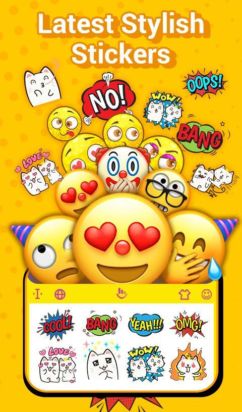 TouchPal Emoji Keyboard: AvatarMoji, 3DTheme, GIFs for