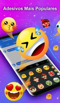Teclado TouchPal Emoji- Emoji, adesivos& temas Cartaz