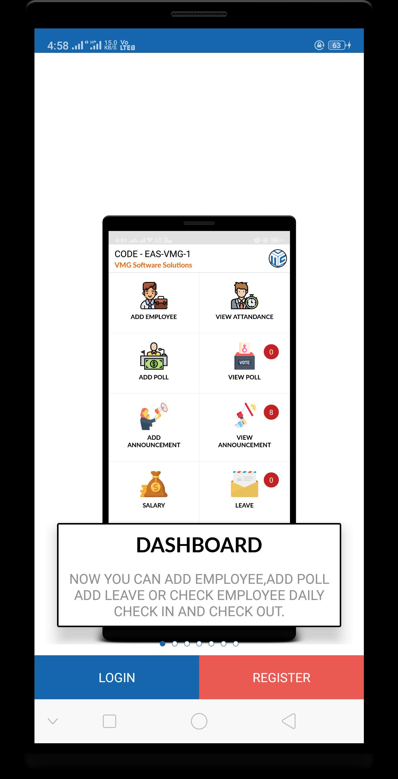 Employee Attendance System - Leave, Salary etc for Android