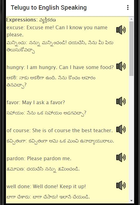 Learn Telugu to English: Spoken English in Telugu for