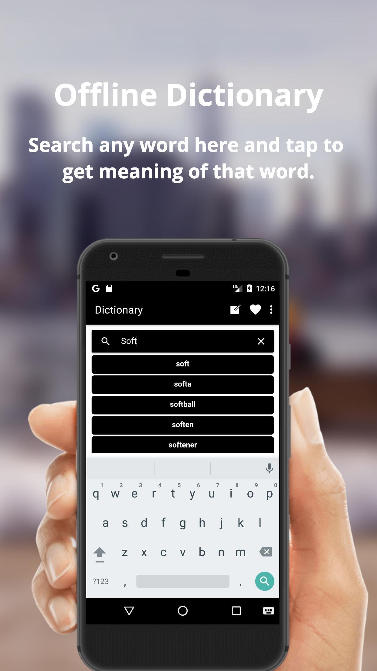 English to Dutch Dictionary Translator App poster