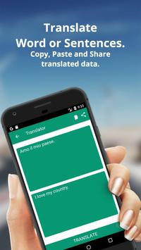 Italian To English Dictionary and Translator App screenshot 1