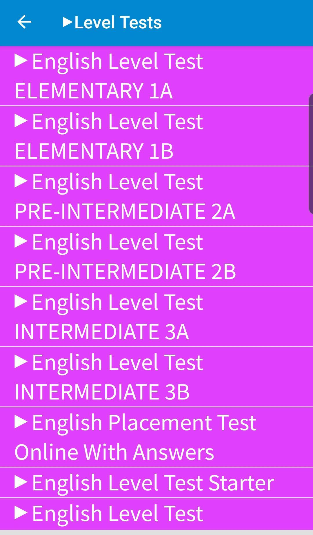 English Level Tests A1 to C2 for Android - APK Download