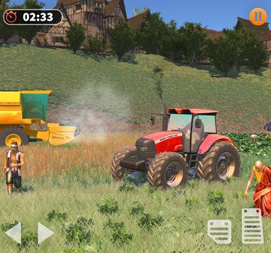 Real Tractor Farming Simulator 3D:New Tractor Game screenshot 17