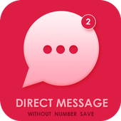 Direct Chat Whats -Without Number Save icon