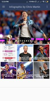 Infographic and Some Quotes by Chris Martin poster