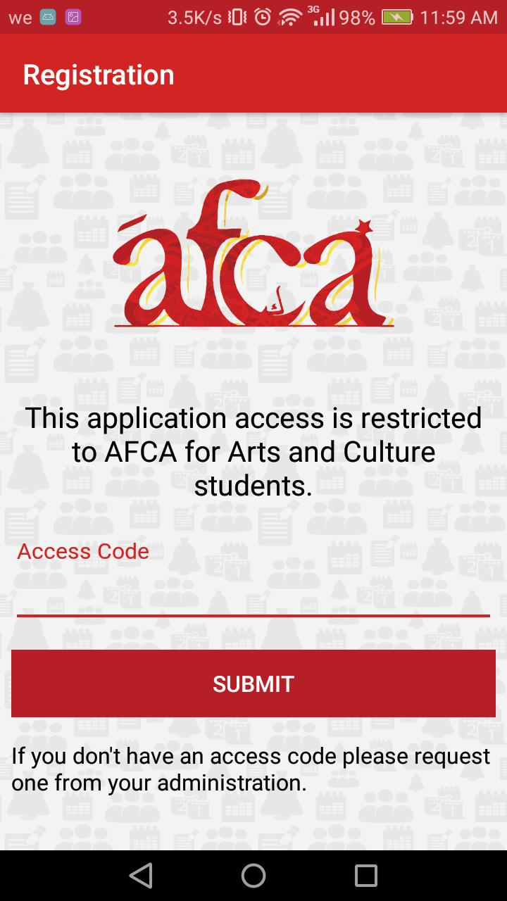 AFCA for Arts and Culture poster