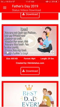 Fathers Day Status Videos Download screenshot 1