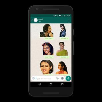 Priya Prakash Varrier Sticker for Whatsapp screenshot 4
