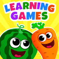 Funny food!  Kids Educational Games 4 Toddler ABC Math