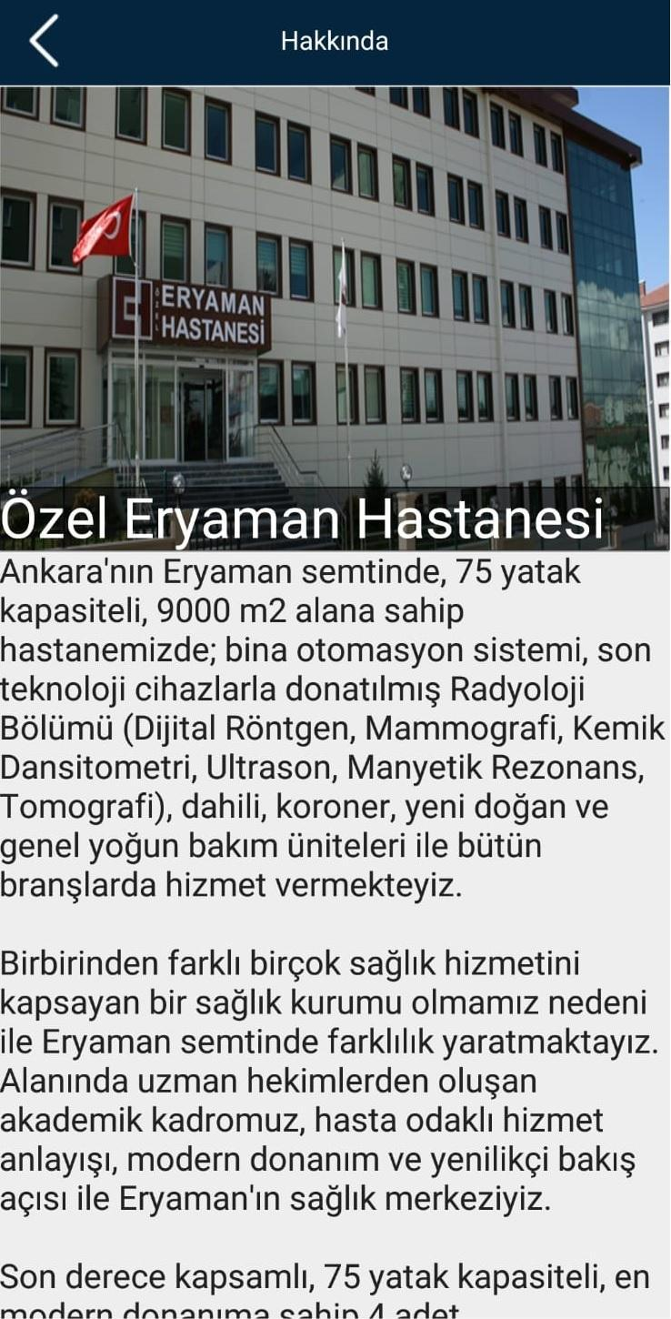 Ozel Eryaman Hastanesi For Android Apk Download