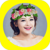 Wedding Flower Crown Hairstyle icon