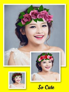 Wedding Flower Crown Hairstyle screenshot 2