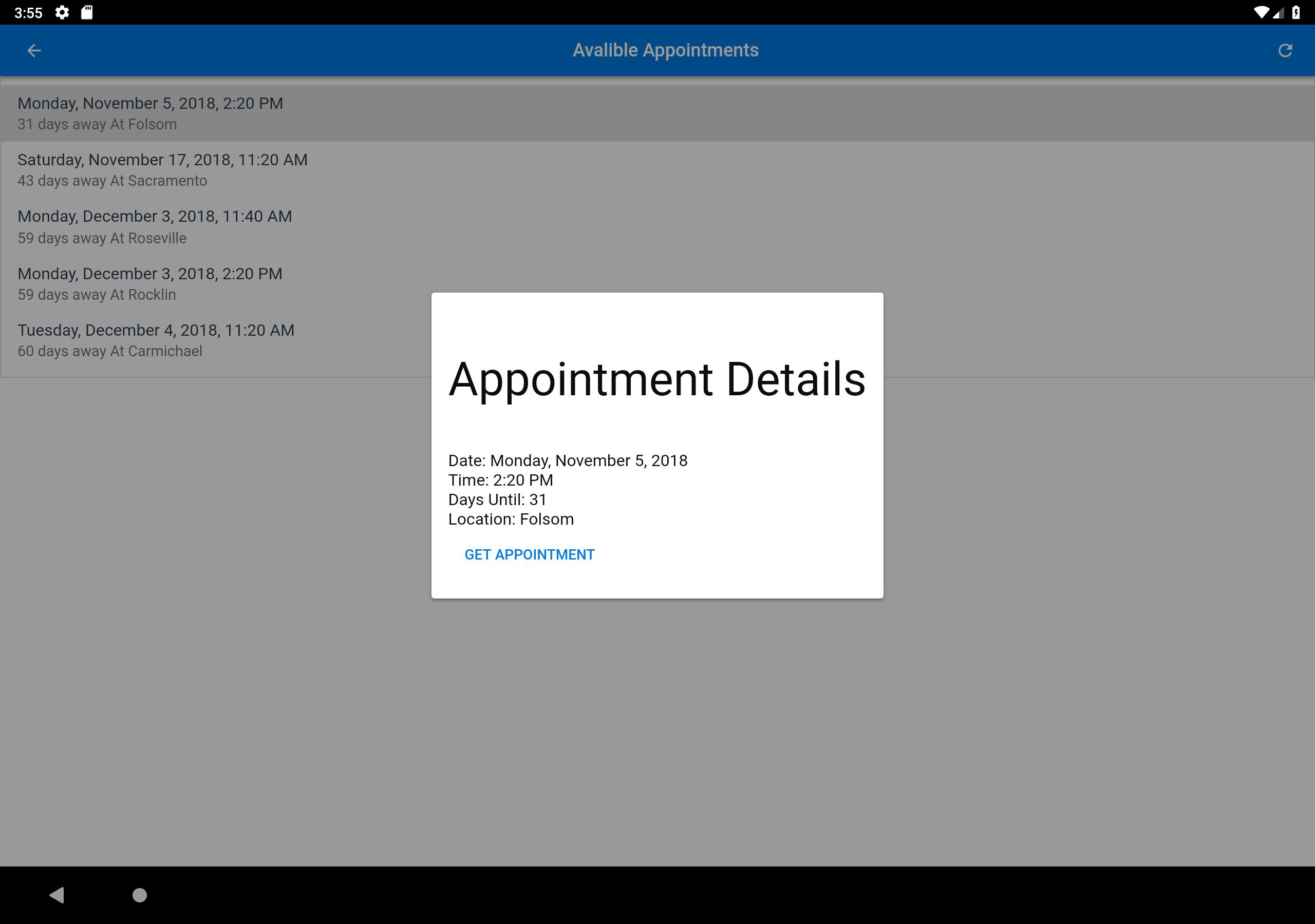 CA DMV Appointment FastFinder (Unreleased) for Android - APK