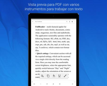 FullReader captura de pantalla 12