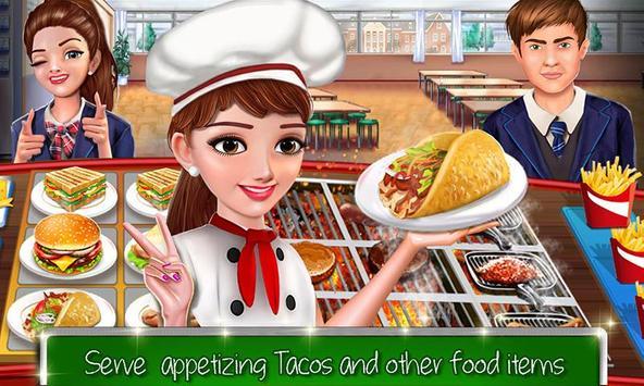 kafe sekolah tinggi: permainan memasak burger screenshot 3