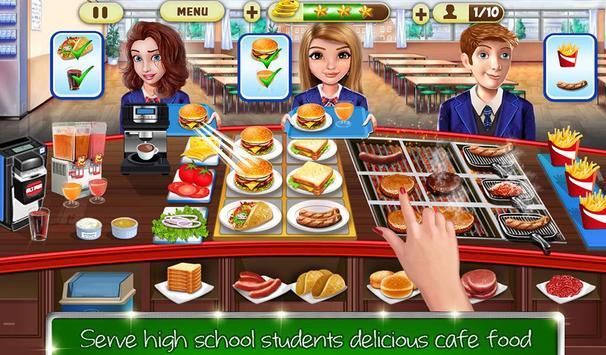 kafe sekolah tinggi: permainan memasak burger screenshot 11