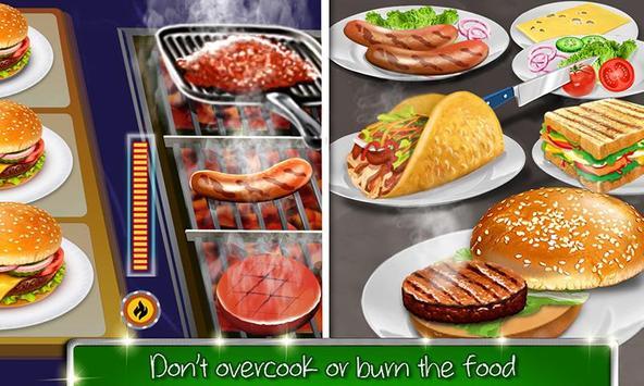 kafe sekolah tinggi: permainan memasak burger screenshot 2
