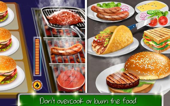 kafe sekolah tinggi: permainan memasak burger screenshot 7