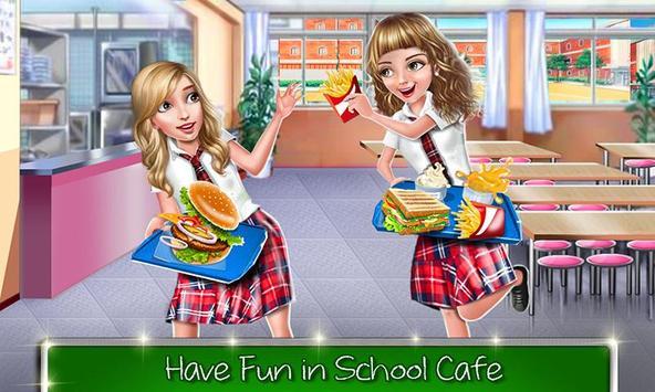 kafe sekolah tinggi: permainan memasak burger screenshot 4