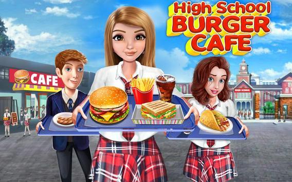 kafe sekolah tinggi: permainan memasak burger screenshot 5