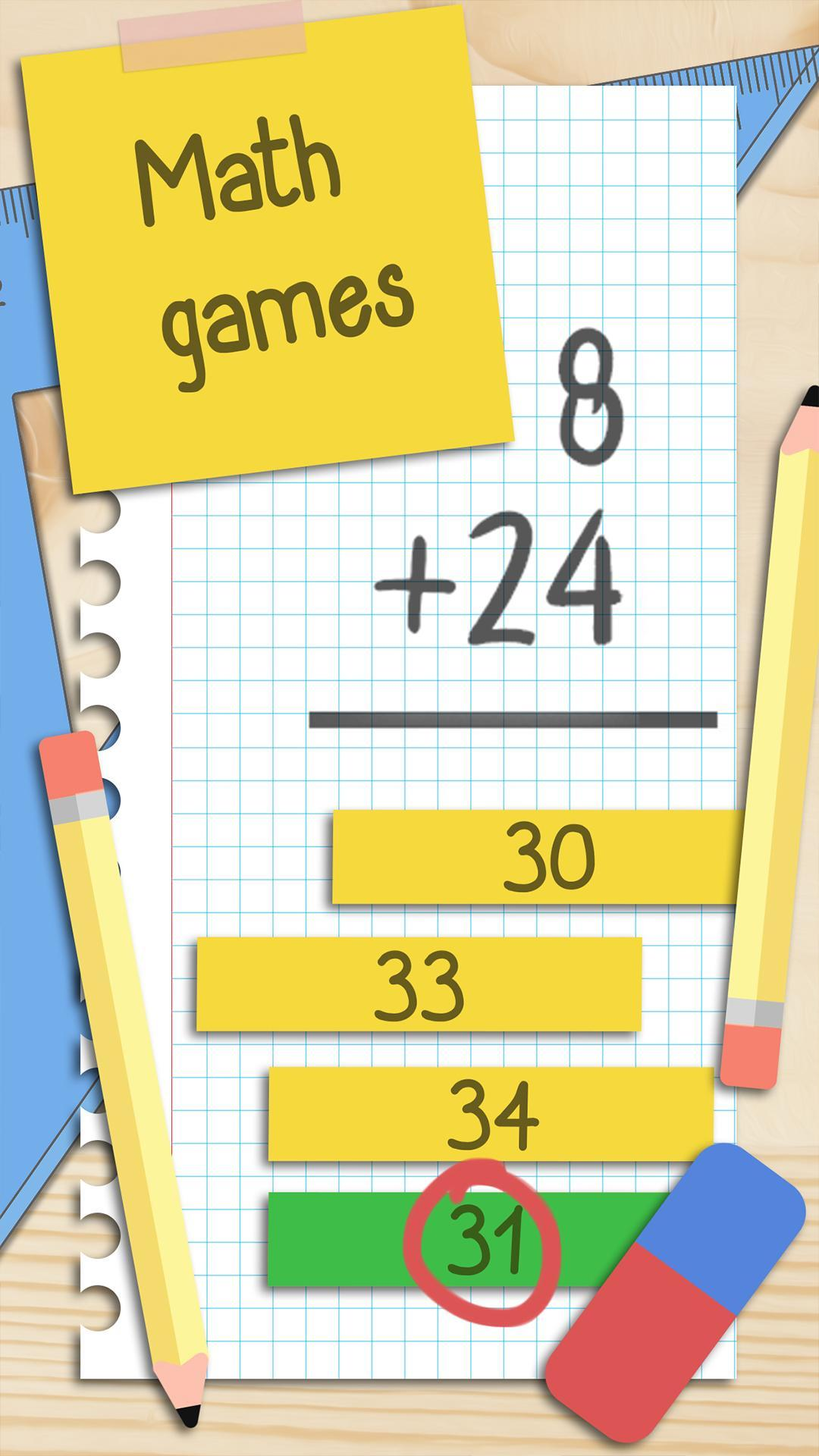 Fun Math Games Free Maths Puzzles Math Quiz App For Android Apk Download